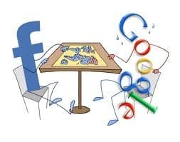 Facebook And Google Playing Risk