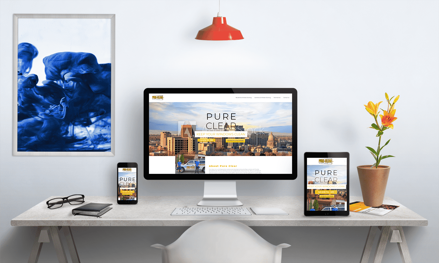 Pure Clear Window Cleaning Web Design