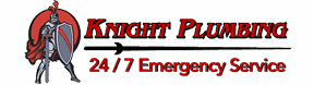 Knight Plumbing logo on the left with text on the right that reads Knight Plumbing:24/7 Emergency Service