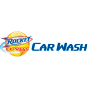 Rocket Express Car Wash logo