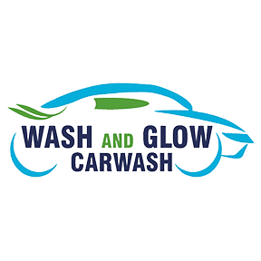 wash and glow car wash logo