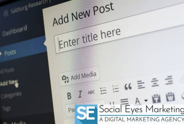 A media post about to get uploaded on a computer.