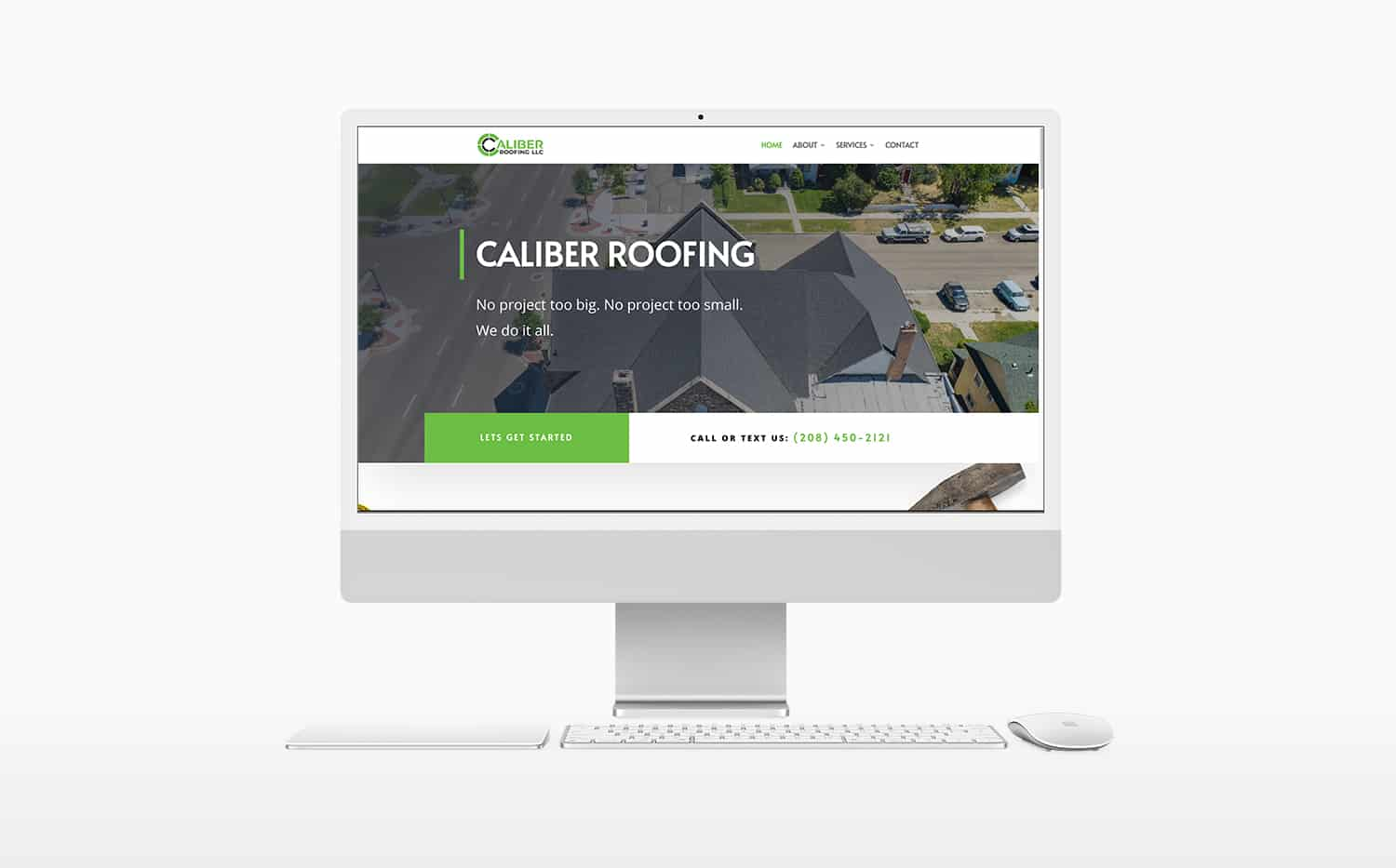 caliber roofing website made by boise web design company